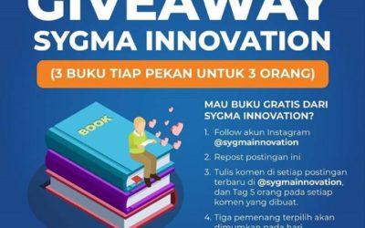 Wow, Sygma Innovation Lagi Ada Program GIVE AWAY Bagi Buku Gratis? Kuy Ikutan!