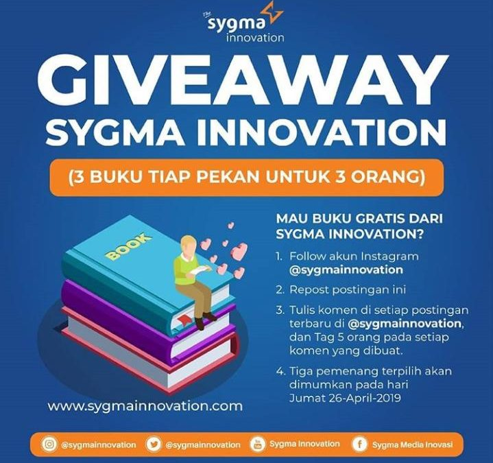 Wow, Sygma Innovation Lagi Ada Program GIVE AWAY Bagi Buku Gratis? Kuy Ikutan!