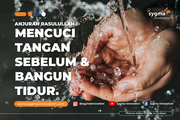 Anjuran Rasulullah : Mencuci Tangan Sebelum dan Sesudah Bangun Tidur