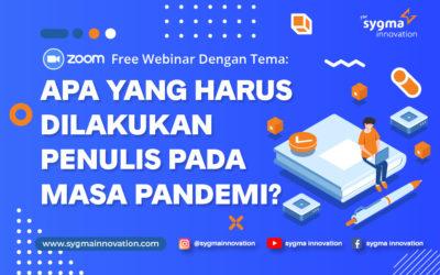 Sygma Media Inovasi Gelar Webinar Bagi Penulis